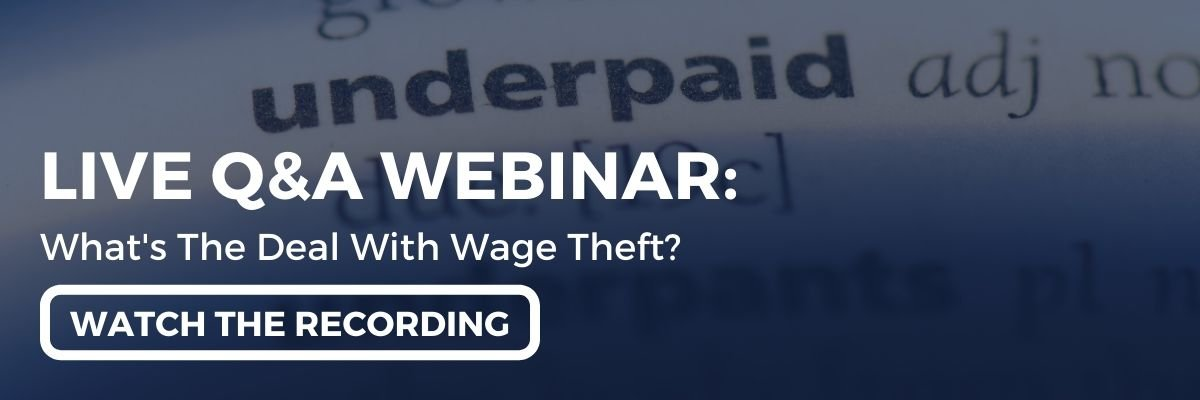 "Watch the webinar recording: ""A Live Q&A With Employment Hero & EI Legal... What's The Deal With Wage Theft featuring Simon Obee & Aahana Lakhia!"""